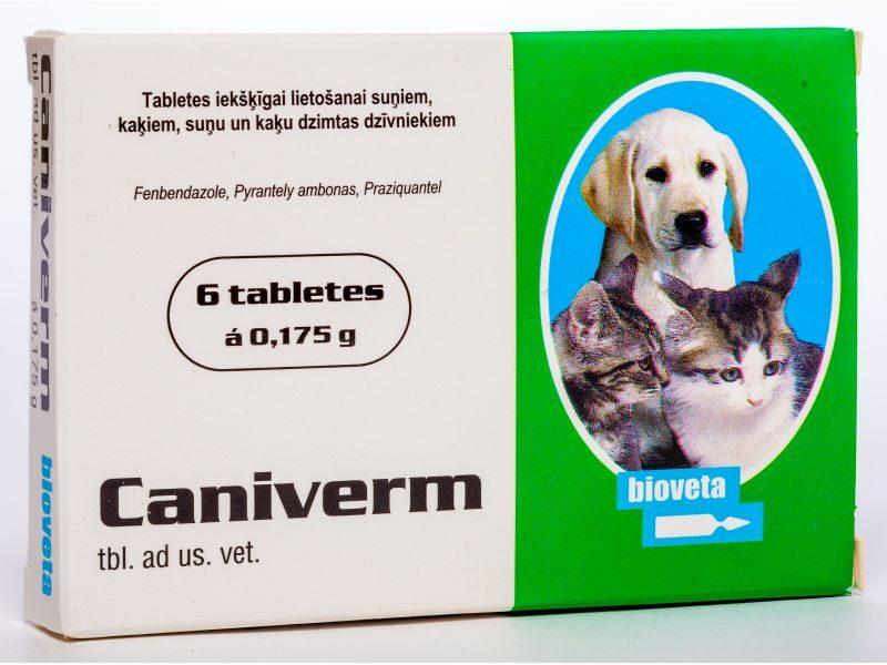 CANIVERM 0.175G TABLETES SUŅIEM/KAĶIEM