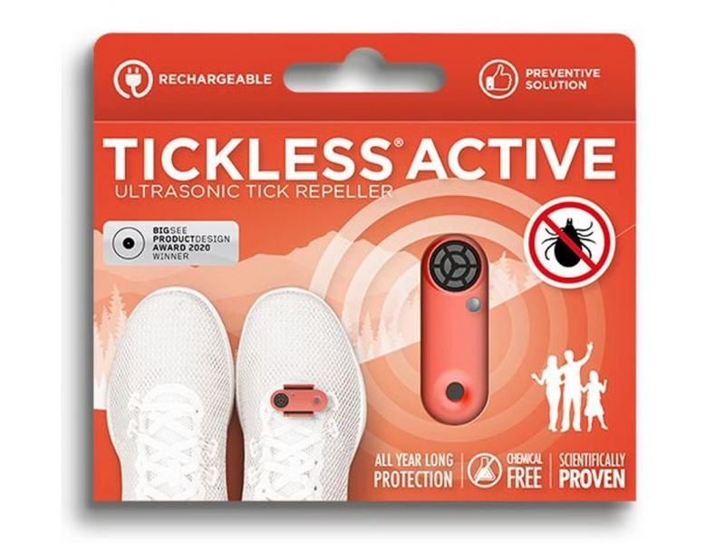 TICKLESS ACTIVE ULTRASK.REPEL. IERĪCE SARKANA (USB)