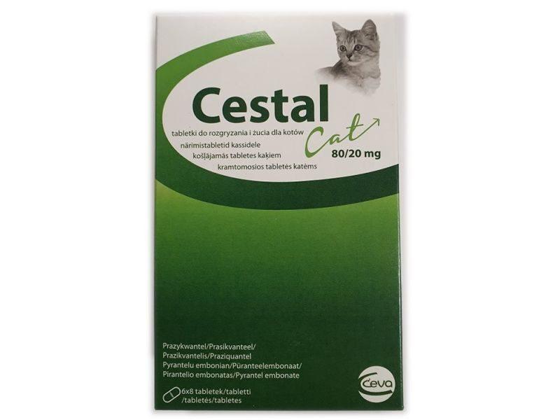 ESTAL CAT 80/20MG TABLETES N48 KAĶIEM