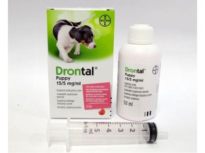 DRONTAL PUPPY SUSP 50ML KUCĒNIEM